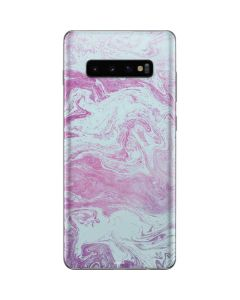 Blue and Purple Marble Galaxy S10 Plus Skin