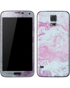 Blue and Purple Marble Galaxy S5 Skin