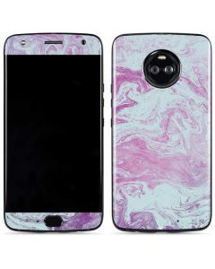 Blue and Purple Marble Moto X4 Skin