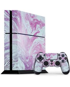 Blue and Purple Marble PS4 Console and Controller Bundle Skin
