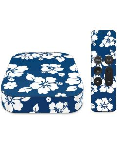 Blue and White Apple TV Skin