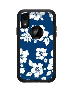 Blue and White Otterbox Defender iPhone Skin