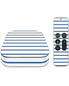 Blue and White Stripes Apple TV Skin
