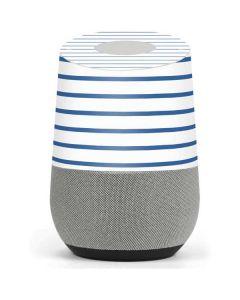 Blue and White Stripes Google Home Skin