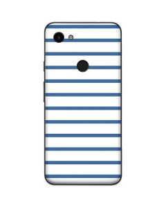 Blue and White Stripes Google Pixel 3a Skin