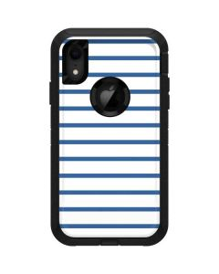 Blue and White Stripes Otterbox Defender iPhone Skin