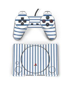 Blue and White Stripes PlayStation Classic Bundle Skin