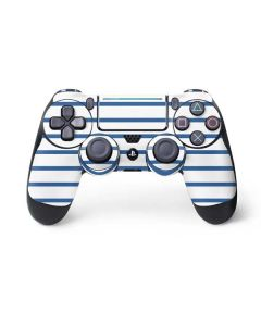 Blue and White Stripes PS4 Pro/Slim Controller Skin
