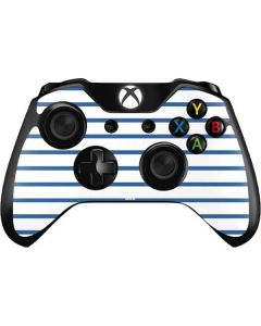 Blue and White Stripes Xbox One Controller Skin