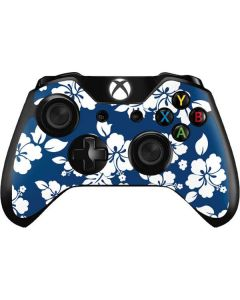 Blue and White Xbox One Controller Skin