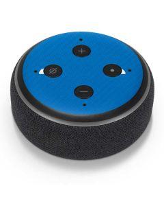 Blue Carbon Fiber Amazon Echo Dot Skin