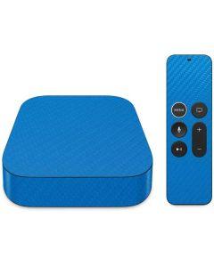 Blue Carbon Fiber Apple TV Skin