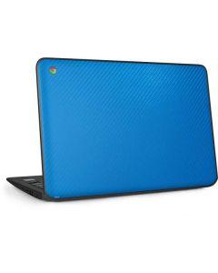 Blue Carbon Fiber HP Chromebook Skin