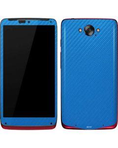 Blue Carbon Fiber Motorola Droid Skin