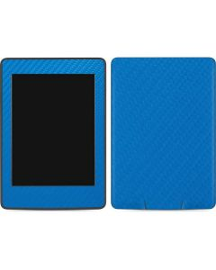 Blue Carbon Fiber Amazon Kindle Skin