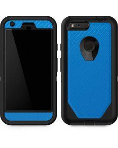 Blue Carbon Fiber Otterbox Defender Pixel Skin
