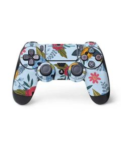 Blue Fall Flowers PS4 Pro/Slim Controller Skin