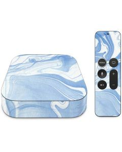 Blue Marbling Apple TV Skin