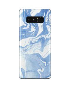 Blue Marbling Galaxy Note 8 Skin
