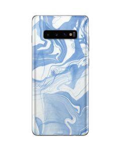 Blue Marbling Galaxy S10 Plus Skin