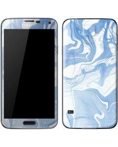 Blue Marbling Galaxy S5 Skin