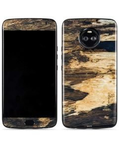 Blue Resin Wood Moto X4 Skin