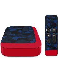 Blue Street Camo Apple TV Skin