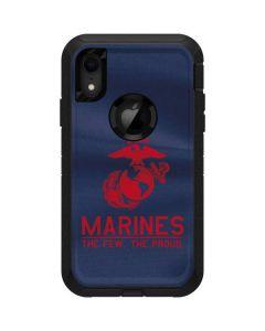 Blue Swirl Marines Otterbox Defender iPhone Skin