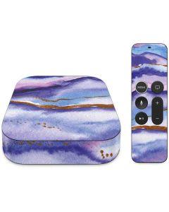 Blue Violet Watercolor Geode Apple TV Skin