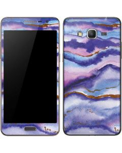 Blue Violet Watercolor Geode Galaxy Grand Prime Skin