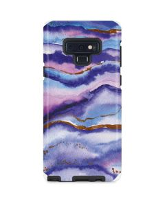 Blue Violet Watercolor Geode Galaxy Note 9 Pro Case