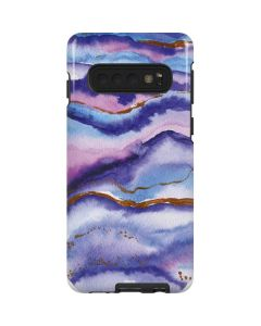 Blue Violet Watercolor Geode Galaxy S10 Pro Case