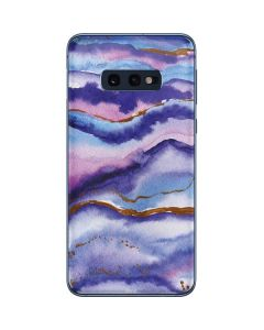 Blue Violet Watercolor Geode Galaxy S10e Skin