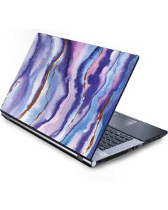 Blue Violet Watercolor Geode Generic Laptop Skin