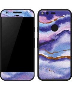 Blue Violet Watercolor Geode Google Pixel Skin