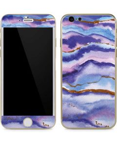 Blue Violet Watercolor Geode iPhone 6/6s Skin