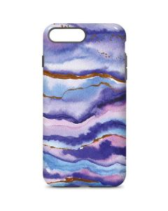 Blue Violet Watercolor Geode iPhone 8 Plus Pro Case