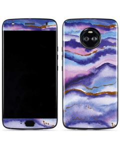 Blue Violet Watercolor Geode Moto X4 Skin
