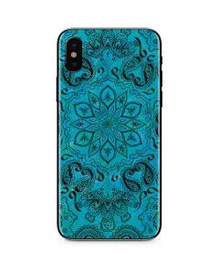 Blue Zen iPhone X Skin