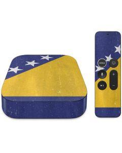 Bosnia and Herzegovina Flag Distressed Apple TV Skin