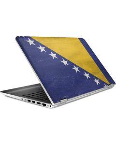 Bosnia and Herzegovina Flag Distressed HP Pavilion Skin