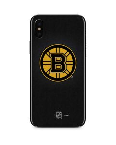 Boston Bruins Black Background iPhone XS Skin