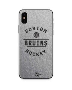 Boston Bruins Black Text iPhone XS Skin