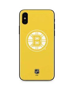 Boston Bruins Color Pop iPhone XS Skin