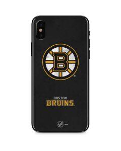 Boston Bruins Distressed iPhone XS Skin