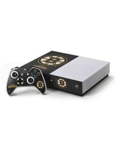 Boston Bruins Distressed Xbox One S Console and Controller Bundle Skin