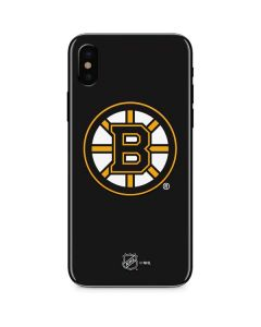 Boston Bruins Solid Background iPhone X Skin