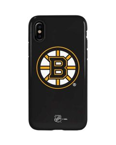 Boston Bruins Solid Background iPhone XS Max Pro Case