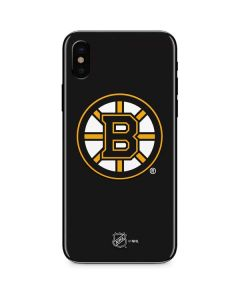 Boston Bruins Solid Background iPhone XS Skin