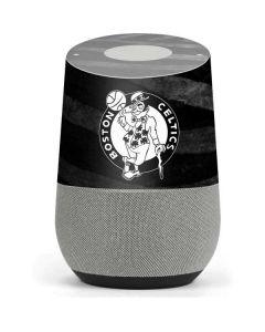 Boston Celtics Black Animal Print Google Home Skin
